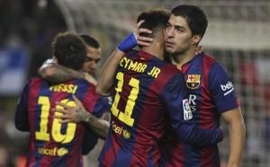 Barcelona Victoria Suárez Messi Neymar